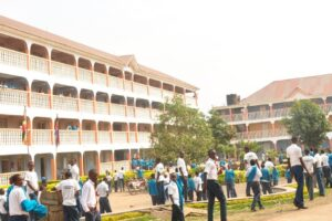 School classrooms (Elia house)on the left and science lab (technology house) on the right